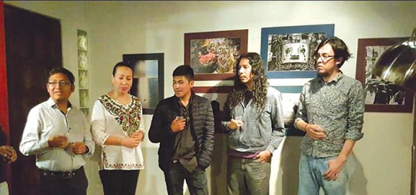 ATENCIÓN. Los artistas plásticos bolivianos expusieron sus obras en Estados Unidos, México y China al ser parte del equi