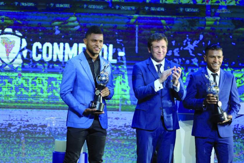 El sorteo de las copas y la premiación a los goleadores de la Libertadores Miguel Borja y Wilson Morelo.