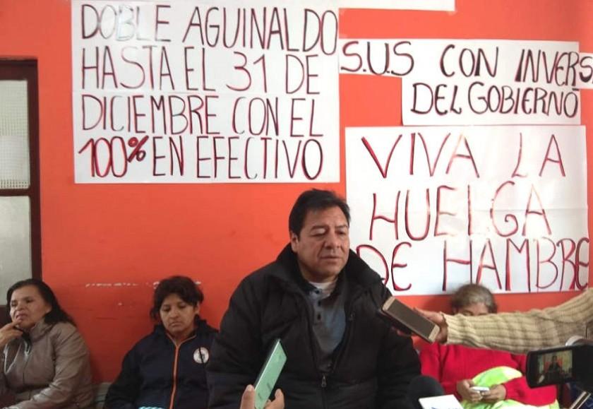 Dos maestras del sector urbano comienzan la huelga de hambre. Foto: CORREO DEL SUR