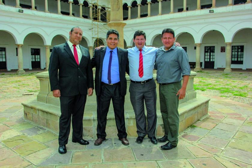 Franz Camacho, Omar Cardozo, Omar Chávez y Hugo Michel.