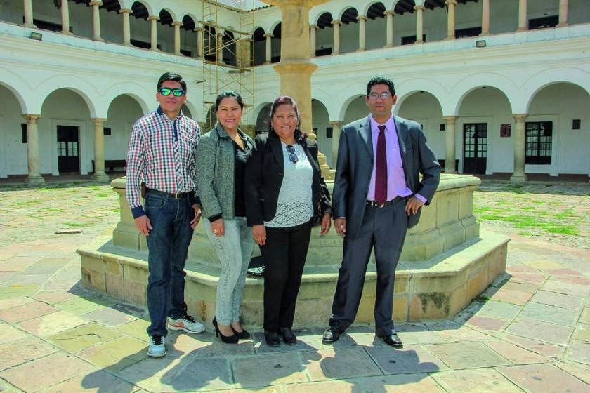 Humberto Mayorga, Jeanette Torres, Irene Angulo y Enrique Rodríguez.
