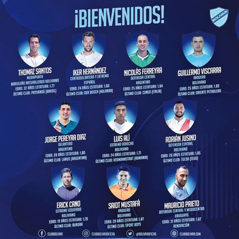 Bolívar despidió a los jugadores que no renovaron y dio la bienvenida a los diez futbolistas para el próximo año.