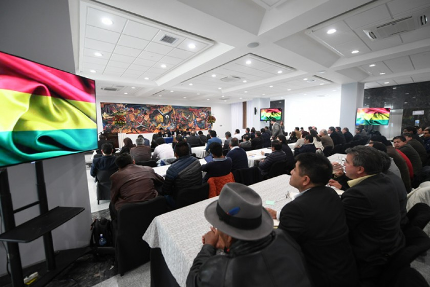 Evo pide reforzar la lucha contra  la corrupción  y más inversión