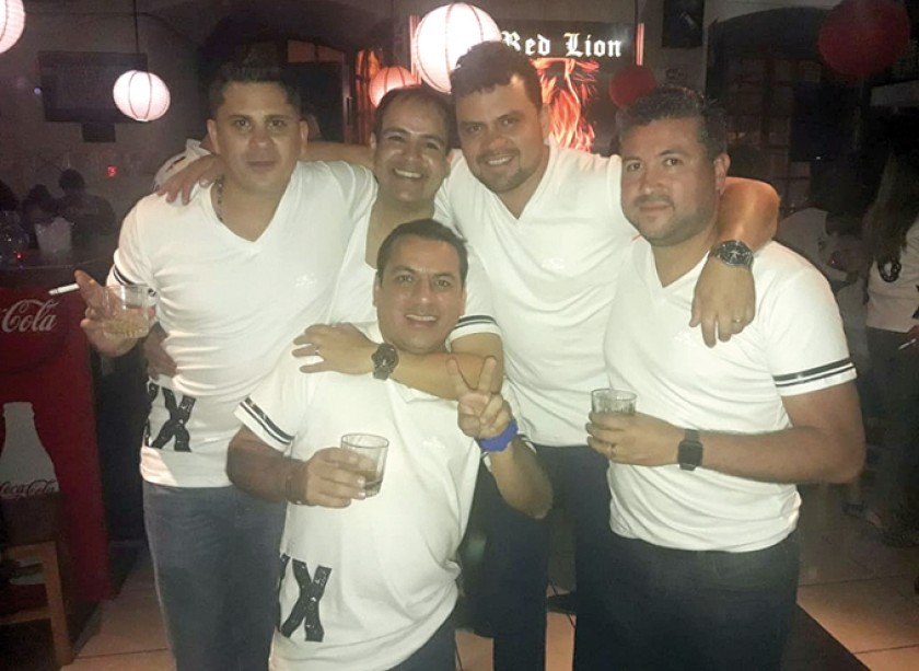 Pepo Abastoflor, Luis Grock, Rodrigo Ávila, Óscar Vega y Sergio Lora.