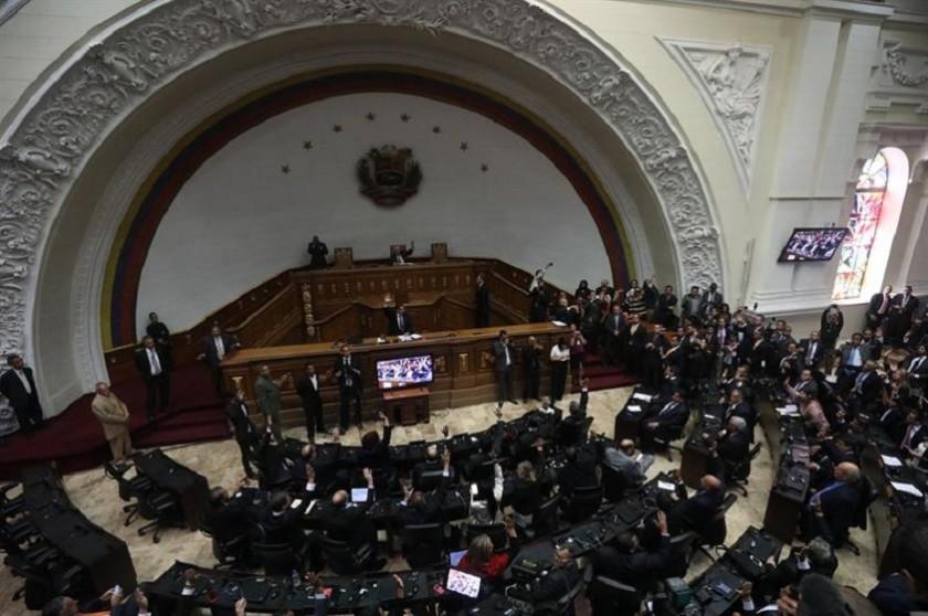 La Asamblea Nacional de Venezuela pretende crear un órgano de transición. Foto: EFE