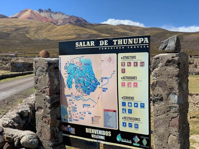 Afiche con el nombre original del Salar de Uyuni: Thunupa