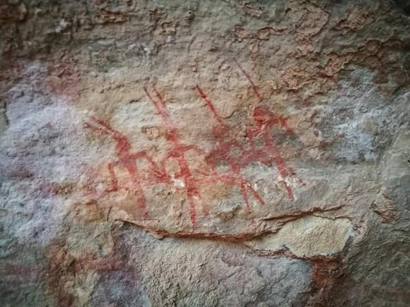 En los alrededores de Potosí existen pinturas rupestres de antigüedad milenaria