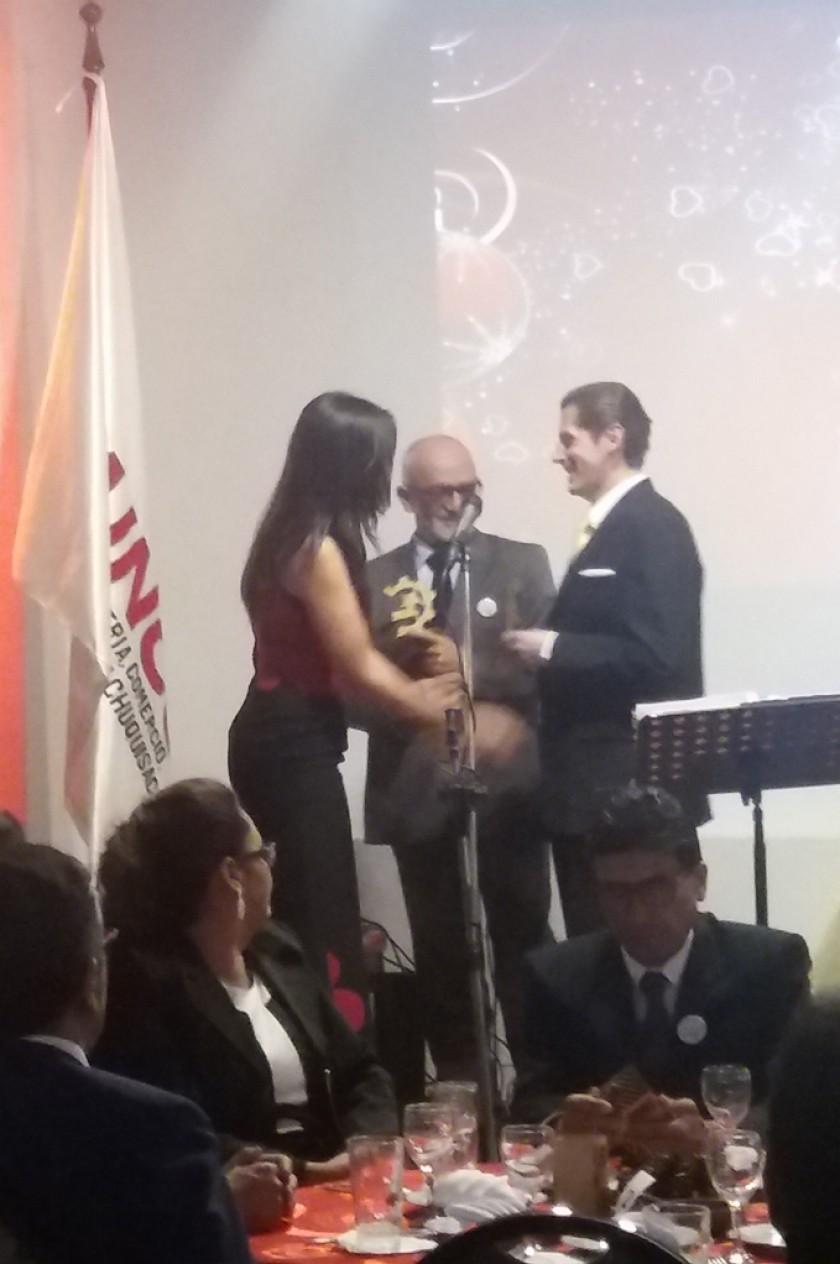 Iván Gutiérrez, Lisbeth Rojas y Juan Manuel Dipp.