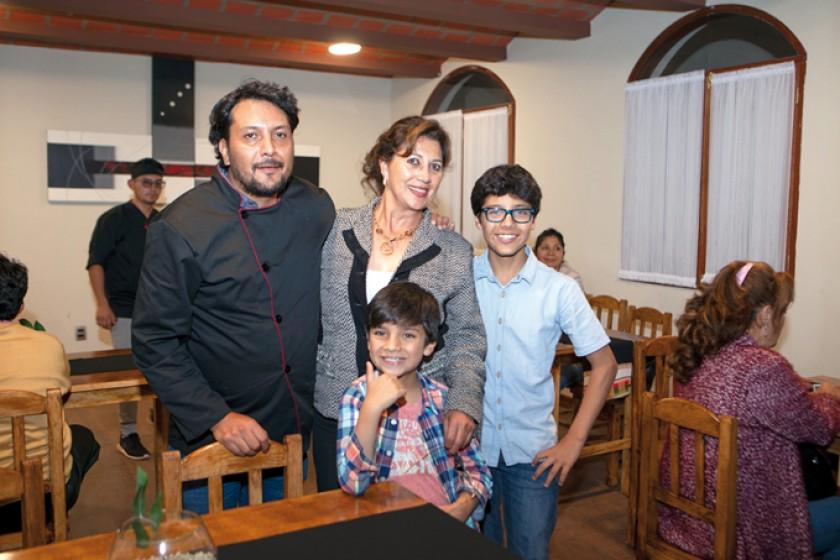 Juan Pablo Gumiel, Irene Castro, José Daniel Limón y Ezequiel Limón.