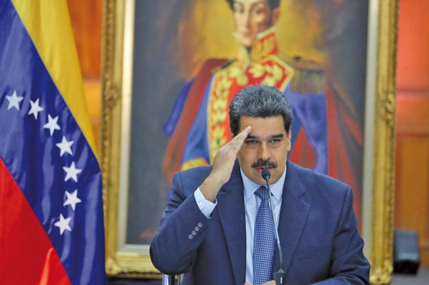 Maduro jura con sombras