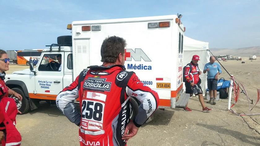 Walter Nosiglia se despide del Dakar.
