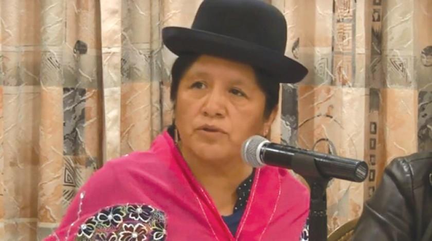 LA PAZ. La presidenta del TSE, María Eugenia Choque.