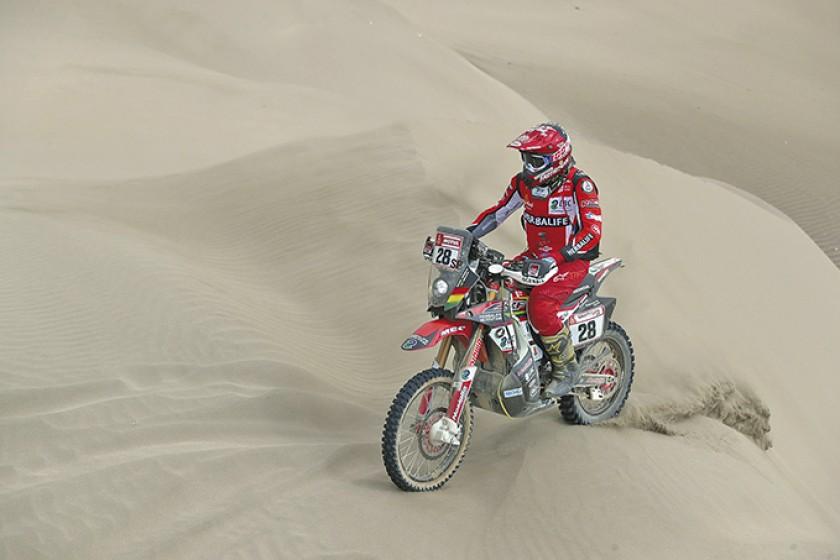 Daniel Nosiglia es el piloto boliviano mejor ubicado en la presente edición del rally Dakar, que hoy acaba en la capital