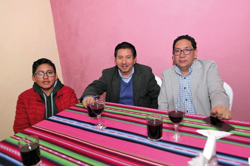Fabricio Taboada, Hilton Taboada y Yuvert Donoso.