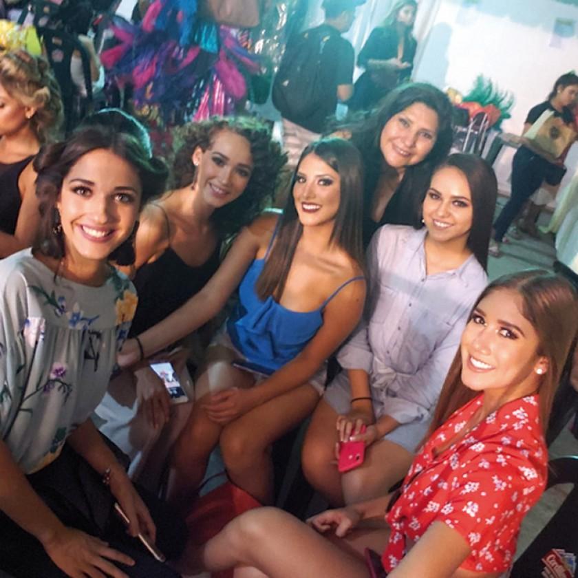 Un backstage con las teenagers más bellas de Bolivia: Aitana Tufiño,  Brianna Ortiz, Natalia Rocha, Maritza Blanco, Lucí