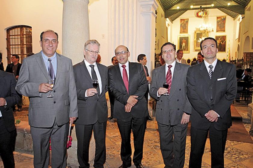 Marcelo Millares, Pedro Rivero, Marco Dipp, Bernardo Canelas y Jorge Carrasco