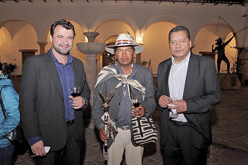 Olvis Eguez, Roger Choque y Gonzalo Hidalgo.