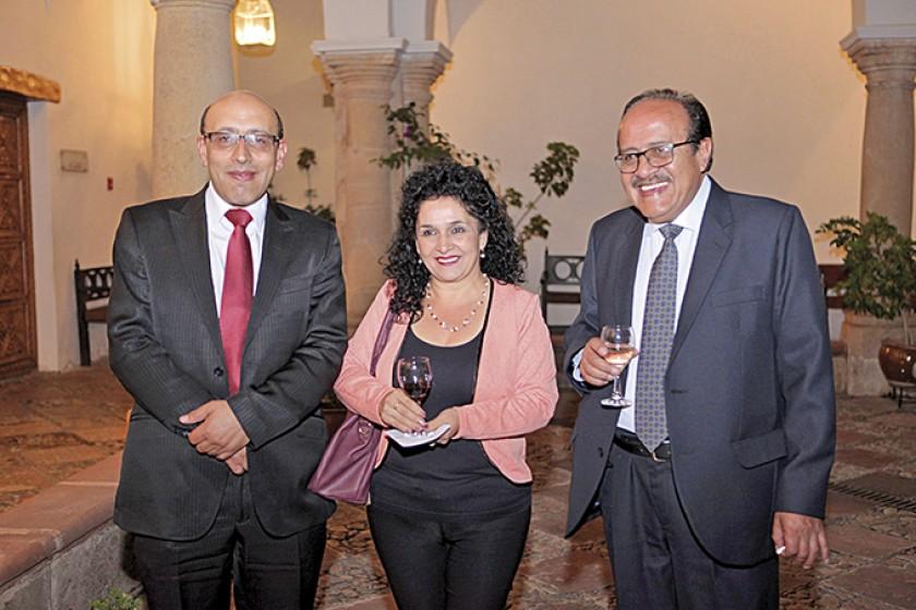 Marco Dipp, Rosario López y Omar Montalvo