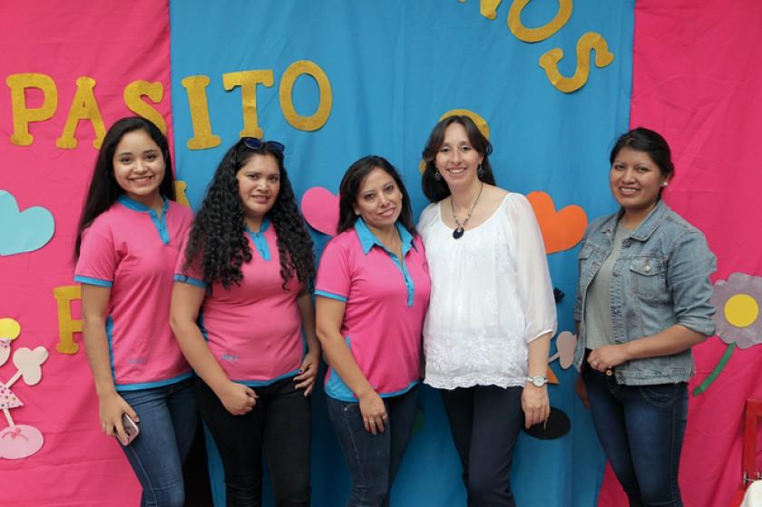 Personal capacitado: María José Vásquez, Erika Velásquez,  Patricia Vásquez, Verónica Valda y Rossemary Flores.