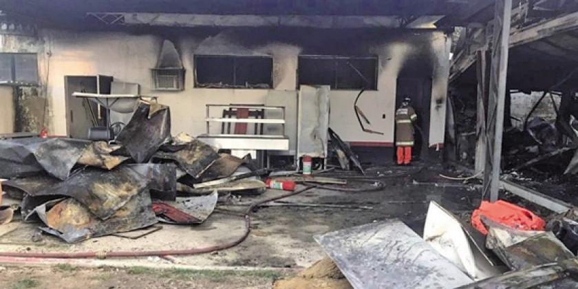 El incendio producido en el centro de entrenamientos de Flamengo.