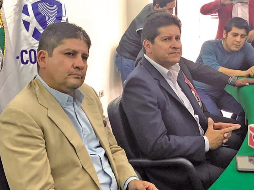 Eduardo Villegas durante la conferencia de prensa ayer en La Paz.