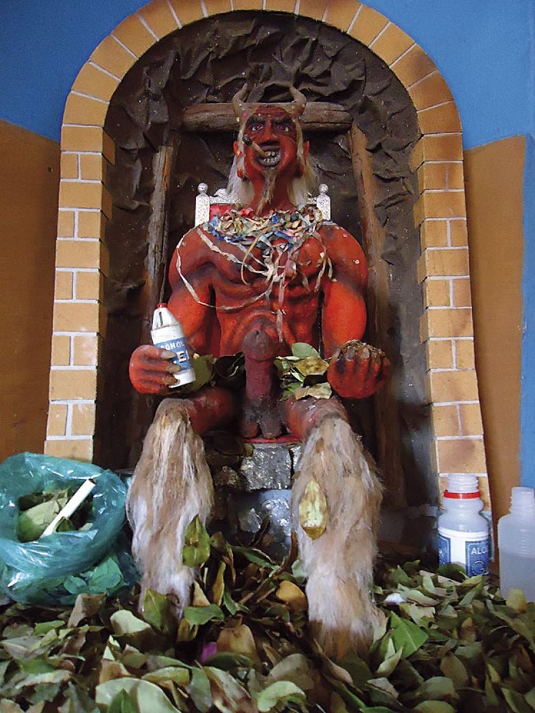 Representacion del Tio de la mina. Museo Diego Huallpa.