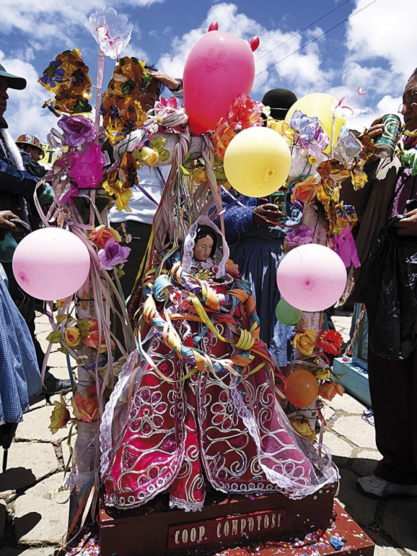 Virgen de la Candelaria en el Carnaval Minero.