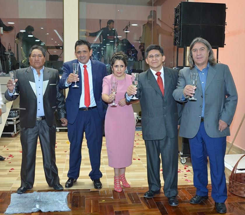 Honorato Basito Huarachi, Oscar Hernández, Karina Zamora, Eduardo Maldonado Iporre y Orlando Careaga.