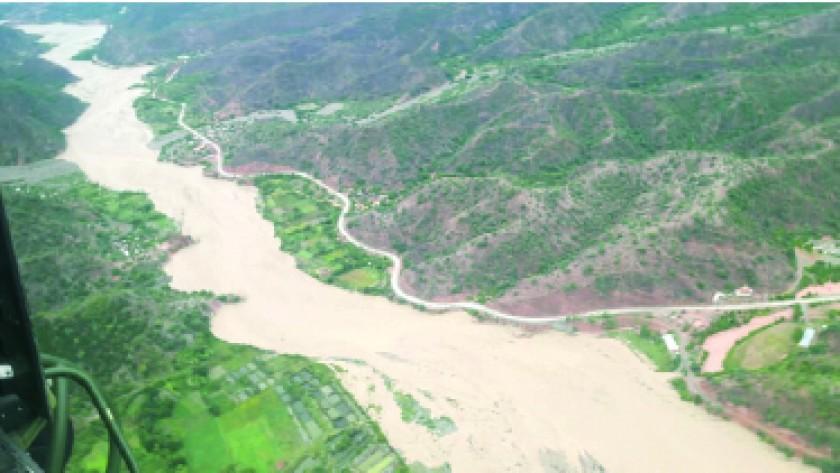 DESBORDE. El río Chico afectó cultivos en los distritos rurales de Sucre..