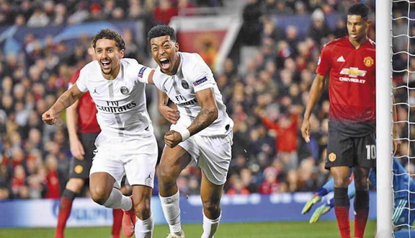 Presnel Kimpembe celebrá el primer gol del PSG