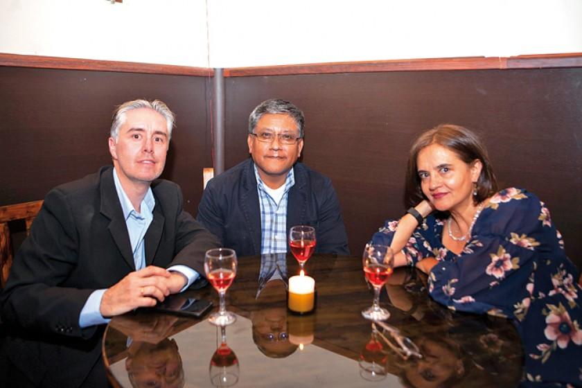 Cyril Lottici, Álvaro Tejerina y Amparo Silva.