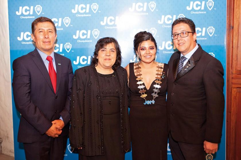 Senadores: Juan Pablo Álvarez, María Esther Deuer,  Guisell Pastrana y Rommy Luján.