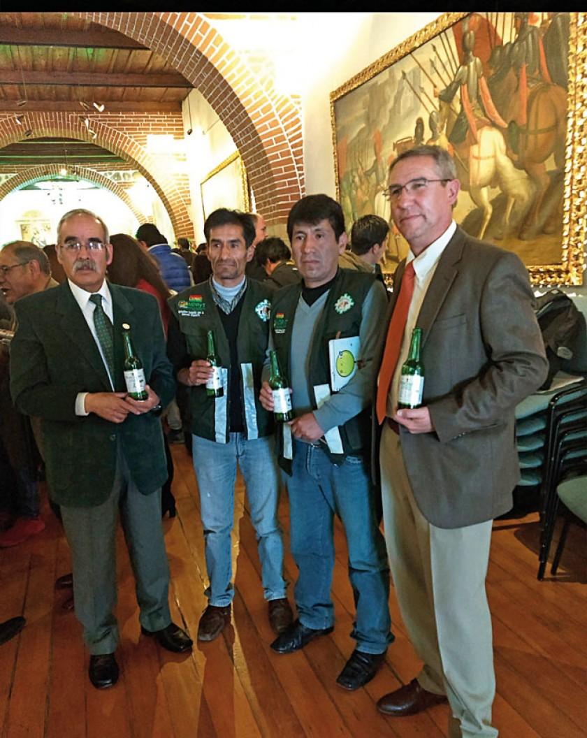José Taboada, Gustavo Caba, Claudio Montaño y Juan Pablo Murillo