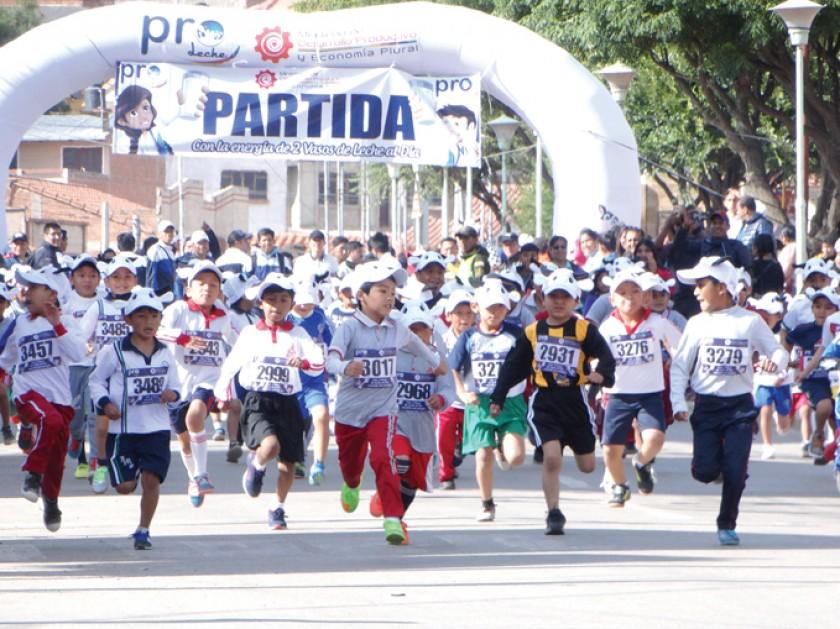 Corren por un premio saludable
