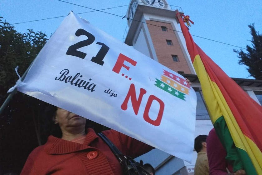 La concentración de plaformas y agrupaciones políticas en Sucre. Foto: José Luis Rodríguez