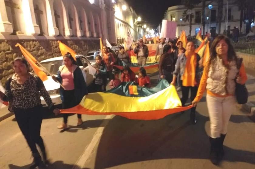 La marcha se dirigió a la plaza 25 de Mayo. Foto: José Luis Rodríguez