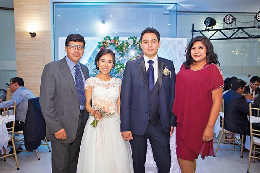 Nelson Barrios, Marcela Cárdenas, Gustavo Ortubé y Maritza Blanco