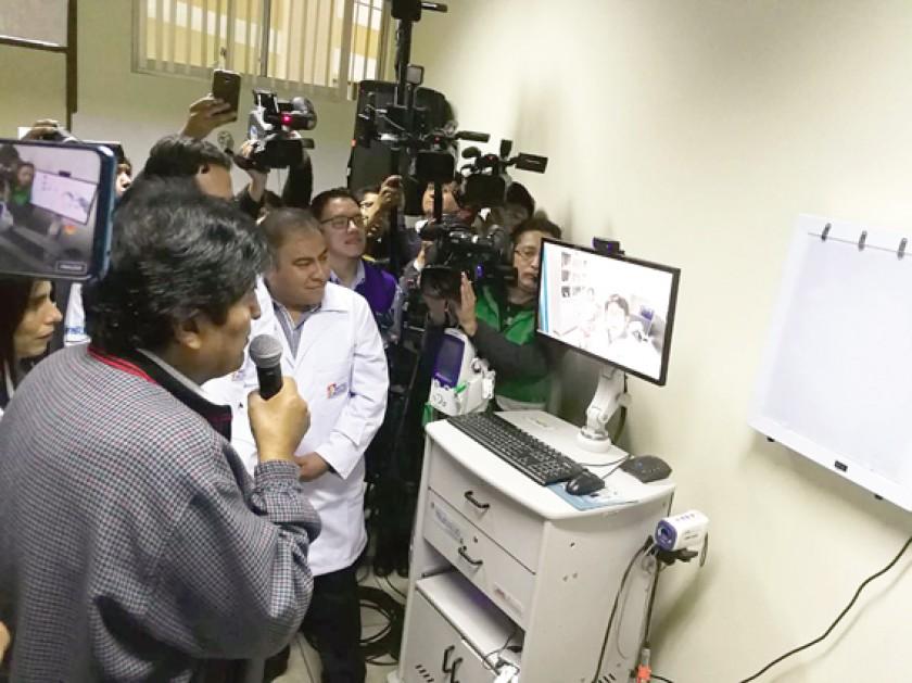 INAUGURACIÓN. Evo Morales en la ceremonia de apertura en Cochabamba.