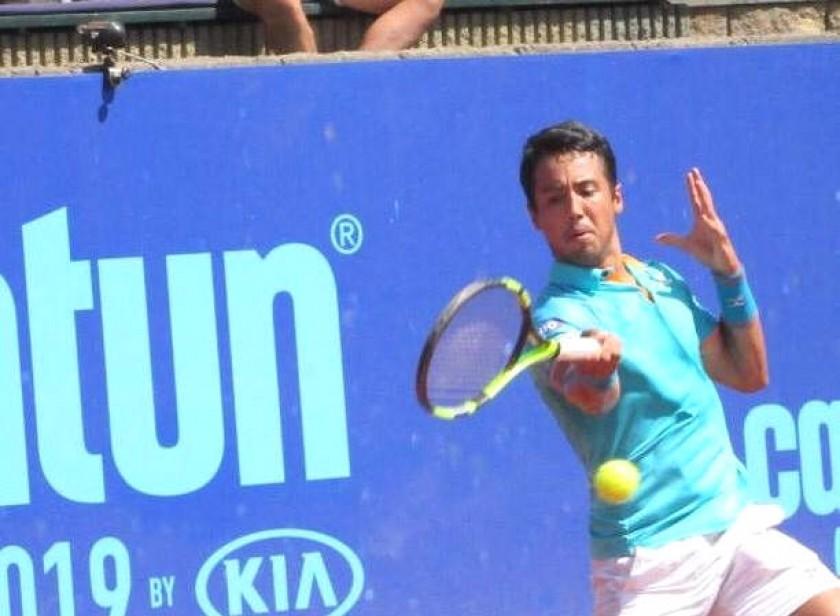 El tenista boliviano durante el partido disputado ayer, en Santiago de Chile. Foto: Gentileza