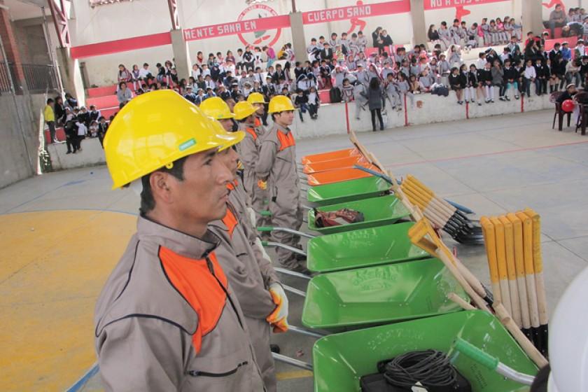 REFACCIÓN. Las obras se inauguraron en la unidad educativa Ricardo Mujía.