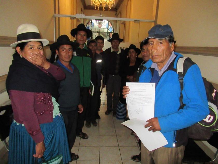 Las autoridades de Pomanasa que hicieron su reclamo. FOTO: CORREO DEL SUR