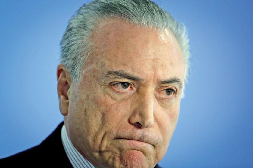 ACUSACIÓN. El ex presidente Michel Temer pudo eludir por un tiempo las denuncias en su contra.