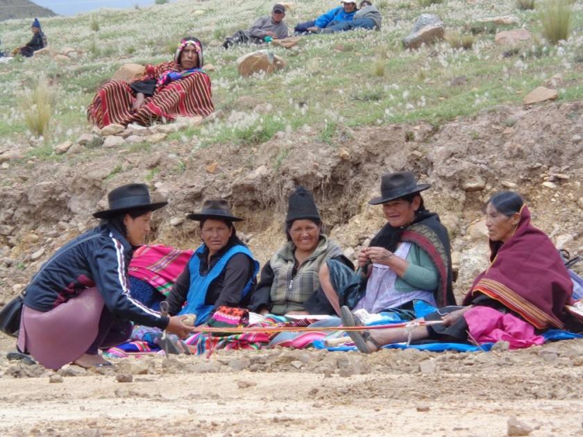 SINCRETISMO. A la comunidad de Pisily, ubicada cerca de Tarabuco, llegan turistas de distintos puntos del país y exterio