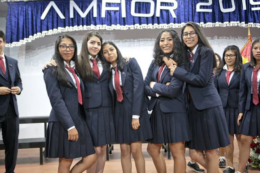 Kelsy Rodríguez, Alexia Ressini, Naomi Ibarra, Raquel Salazar y Eva Toro.