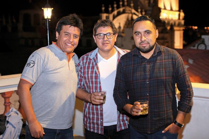 Juan Carlos Pedrazas, Víctor Sandi y Cristian Suárez.