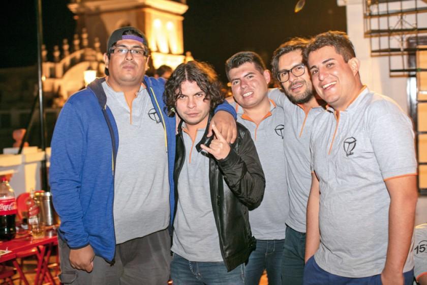René Villarroel, Carlos Camacho, Sergio Urquieta, Erick Hurtado y Bernardo Civera.