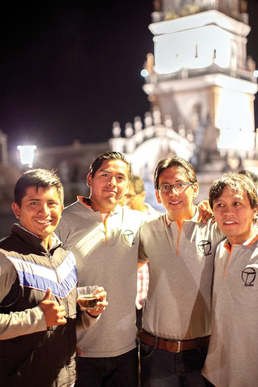 Miguel, John, Franz y Carlos.
