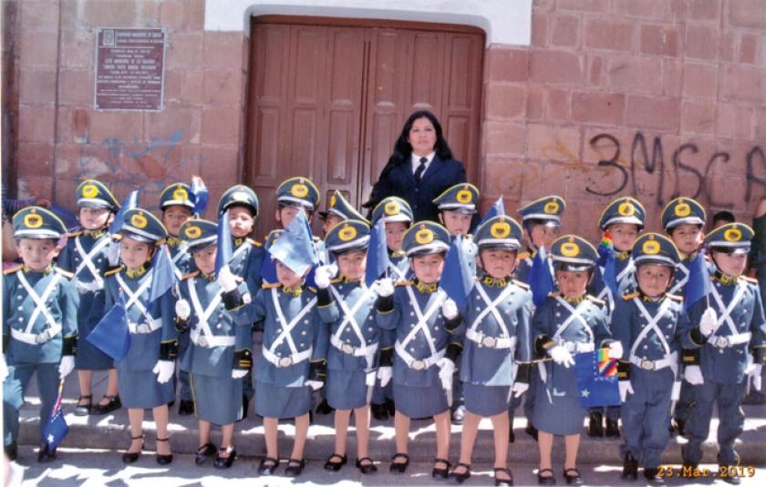 """Promoción 2019 del Kínder del Liceo Militar, """"Águilas Negras""""."""