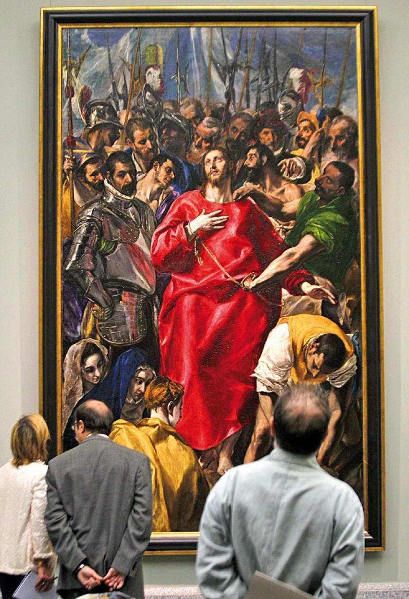 """Imagen de la obra """"El Expolio"""", de El Greco, en el Museo del Prado de Madrid. EFE/Kote"""