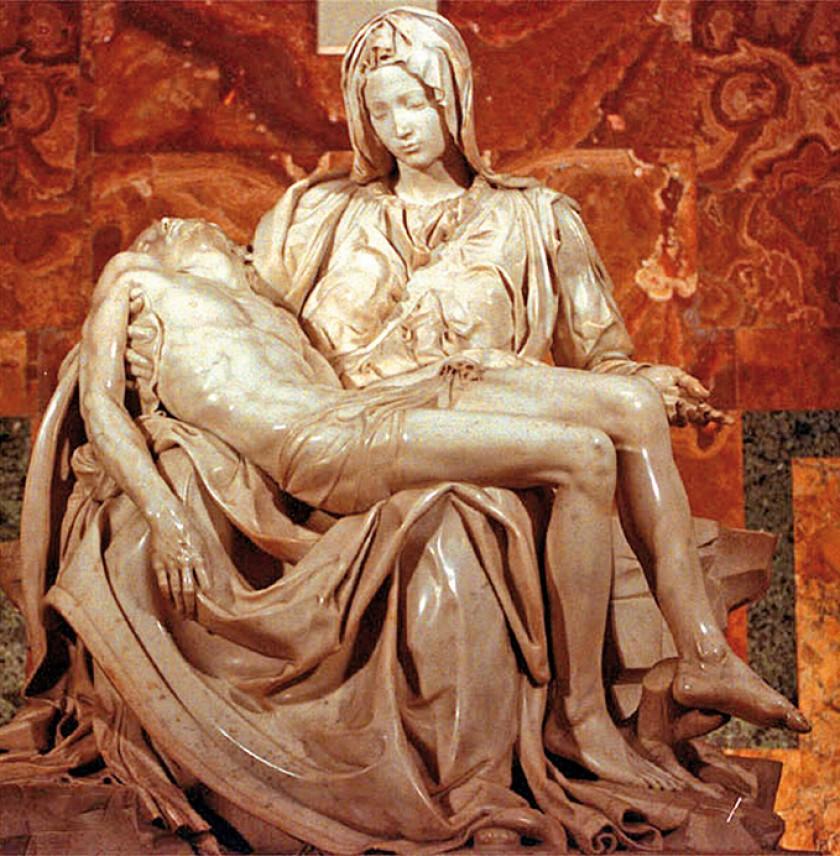 """""""La Piedad"""", de Miguel Ángel Buonarroti, en la Basílica de San Pedro en la Ciudad del Vaticano. EFE/EPA/ANSA"""